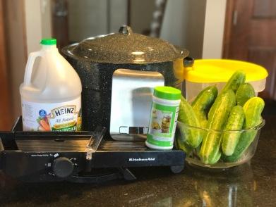 Preparing to make Easy Bread & Butter Pickles