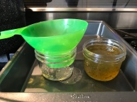 Jalapeno Jelly - Ladle hot jelly into jars